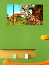 Printed Colourful Giraffe Wall Art Painting - 5 Pieces - 999store