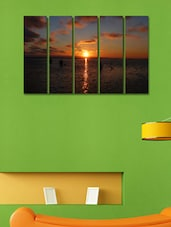 Printed Sun Set Wall Art Painting - 5 Pieces - 999store