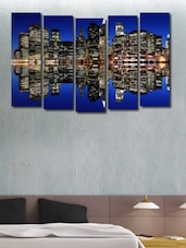 City Shadow In The Sea Wall Art Painting - 5 Pieces - 999store