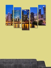 City Modern Wall Art Painting - 5 Pieces - 999store - 941415