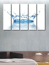 Water Splash Wall Art Painting - 5 Pieces - 999store