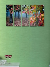 Colourful Leaves Wall Art Painting - 5 Pieces - 999store