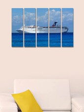 Printed Cruise Ship Wall Art Painting - 5 Pieces - 999store