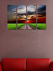Nature Modern Wall Art Painting - 4 Pieces - 999store