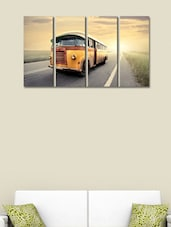Printed Bus Wall Art Painting - 4 Pieces - 999store