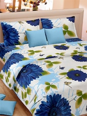 Floral With Butterfly Double Bed Sheet With Pillow Covers - VORHANG - 941793