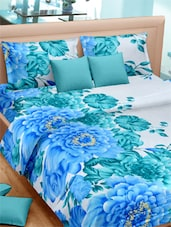 Floral Printed Sober Double Bed Sheet With Pillow Covers - VORHANG