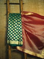Regal Maroon And Teal Banarasi Saree - BANARASI STYLE