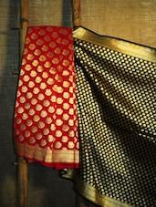 Bright Red And Black Banarasi Saree - BANARASI STYLE