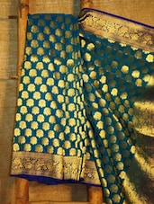 Blue And Gold Banarasi Saree - BANARASI STYLE