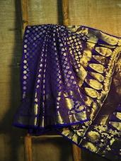 Royal Blue And Gold Banarasi Saree - BANARASI STYLE