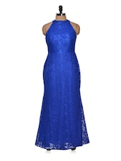 Solid blue gown -  online shopping for Dresses