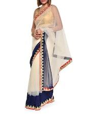 Ethereal White Net Saree - Aggarwal Sarees