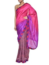 Chic Pink And Purple Georgette Saree - Aggarwal Sarees