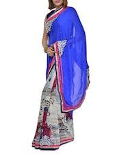 Chic Multi Hued Printed Georgette Saree - Aggarwal Sarees