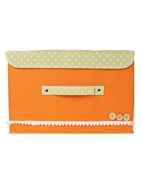 Orange Foldable Storage Boxes -set Of 2 - Bluebells