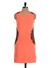 Peach Round Neck Dress - Colbrii