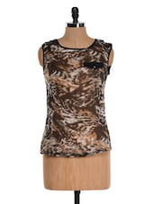 Brown Animal Print Top - Colbrii