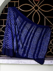 Blue Tangail Cotton Saree With Shibori Work All Over - SaDaF