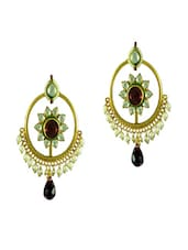 Beautiful Floral Motif Earrings - Swanvi