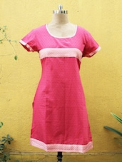 Dark Pink Cotton Kurti - Sutee