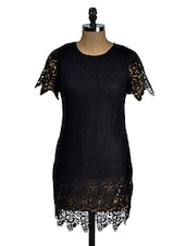 Black Lace Shift Dress - KARYN