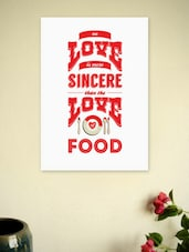 Love Of Food Wall Decor Quotes Poster - Lab No. 4 - The Quotography Department