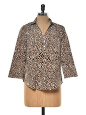 Brown Animal Print Top - Myaddiction
