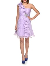Iridescent Lavender Ruffle Dress - FOREVER UNIQUE
