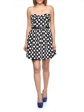 Polka Print Sweetheart Monochrome Dress - FOREVER UNIQUE