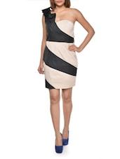 Colour Blocked One-shoulder Dress - FOREVER UNIQUE