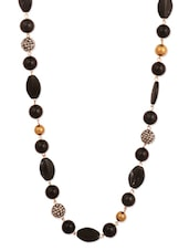 Black Beaded Stone Necklace - THE BLING STUDIO