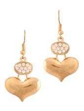 Gold Heart Studded Earrings - THE BLING STUDIO