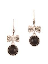 Black Bow Studded Earrings - THE BLING STUDIO