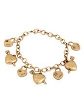 Antique Gold Love Charms Bracelet - THE BLING STUDIO