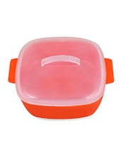 Orange Square Serving Bowl With Lid - Trust & Guess