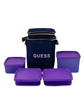 Violet Lunch Box With Bag (Set Of 4) - Trust & Guess