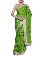 Glamorous Green Party Wear Chiffon Saree - Tanisi
