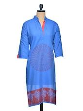 Printed Straight Cotton Kurta - Shakumbhari