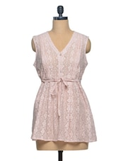 Cotton Lace Dress - Shakumbhari