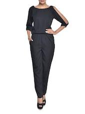 Solid Black Jumpsuit - Magnetic Designs
