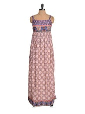 Multi-coloured Printed Maxi Dress - Magnetic Designs