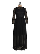 Solid Black Maxi Dress - Magnetic Designs