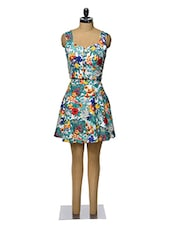 Floral Printed Flared Top And Skirt Set - Magnetic Designs