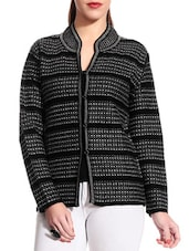 Black Woolen Cardigan - TAB91