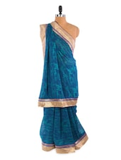 Lovely Blue Saree With Blouse Piece - ROOP KASHISH