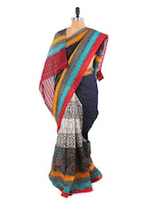 Stylish Blue Saree With Blouse Piece - ROOP KASHISH