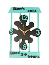 BLACK AND MINT QUIRKY WALL CLOCK - Lumber Gifts