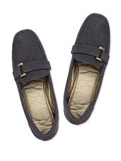 Muted Navy Blue Formal Shoes - Ananyaa