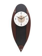 Black Pendulum MDF Wood Wall Clock - Horo